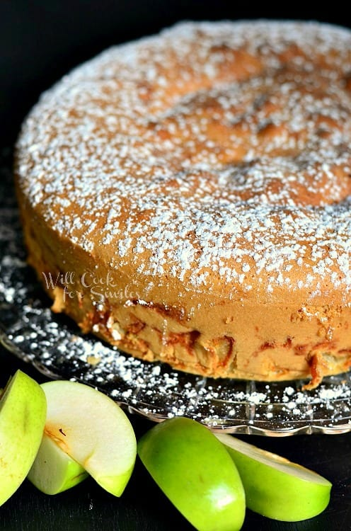 Sharlotka Russian Apple Cake 2 from willcookforsmiles.com