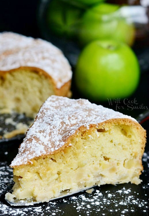 Sharlotka Russian Apple Cake 3 from willcookforsmiles.com