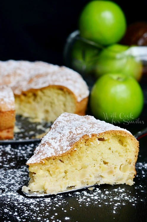 Sharlotka Russian Apple Cake 4 from willcookforsmiles.com