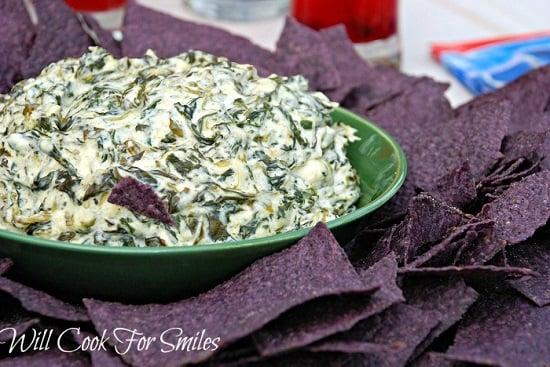 Spinach Parmesan dip ed