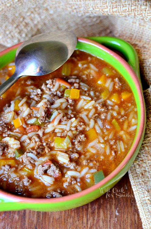 Stuffed Pepper Soup Recipe — Dishmaps