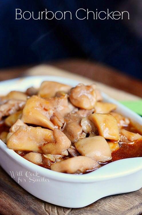 Bourbon Chicken 1 from willcookforsmiles.com #chicken #bourbonchicken