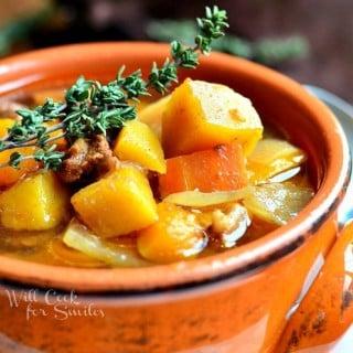Slow Cooker Winter Squash Beef Stew