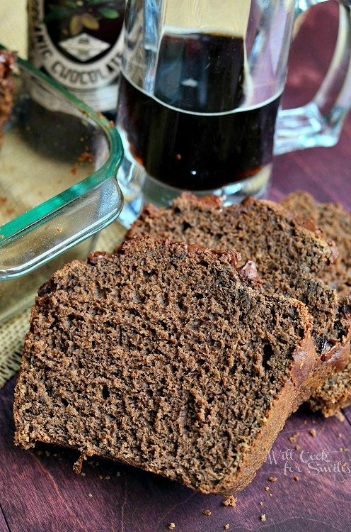 Chocolate Stout Bread | willcookforsmiles.com #bread #chocolate #beerbread
