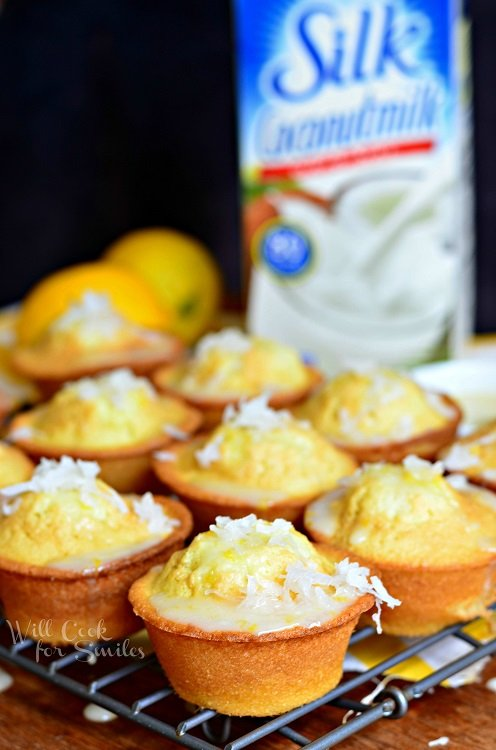 Coconut Lemon Pound Cake Muffins 1 from willcookforsmiles.com #muffin #lemon #poundcake