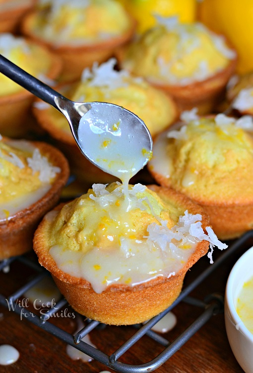 Lemon Coconut Pound Cake Muffins