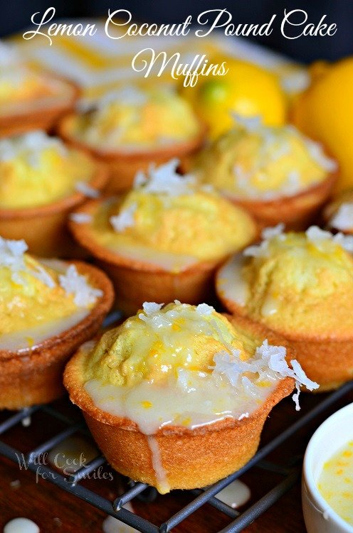 Coconut Lemon Pound Cake Muffins 3 from willcookforsmiles.com #muffin #lemon #poundcake