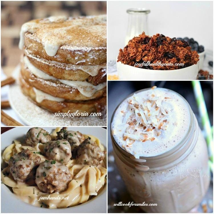 Host Features Cinnamon French Toast, Coconut Blueberry Granola, Swedish Meatballs, Coconut Mocha Milkshake