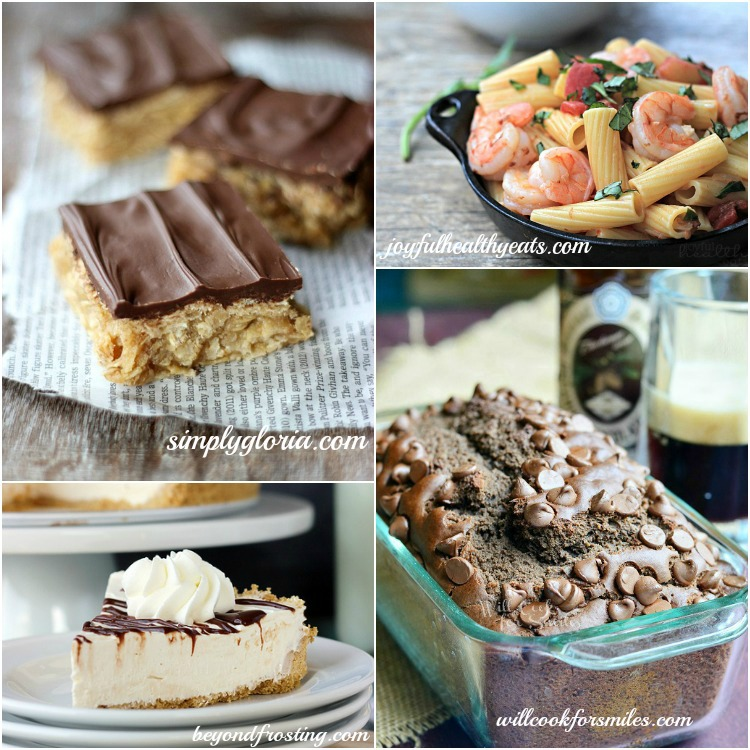 Host Features Oatmeal Peanut BUtter Bars, Spicy Shrimp Pasta, Bailey's Spiked Ice Cream Cake, Chocolate Stout Bread