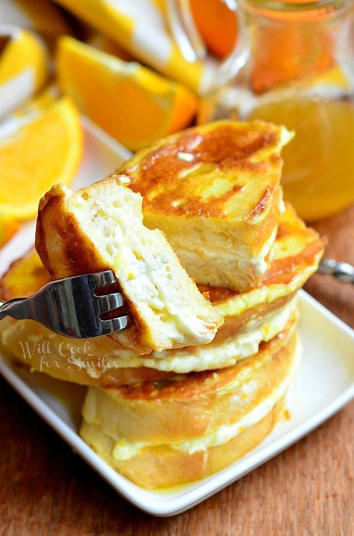 Orange Creamsicle French Toast |  from willcookforsmiles.com #breakfast #orange #frenchtoast