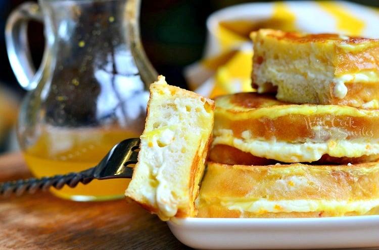 Orange Creamsicle French Toast 4 from willcookforsmiles.com #breakfast #orange #frenchtoast