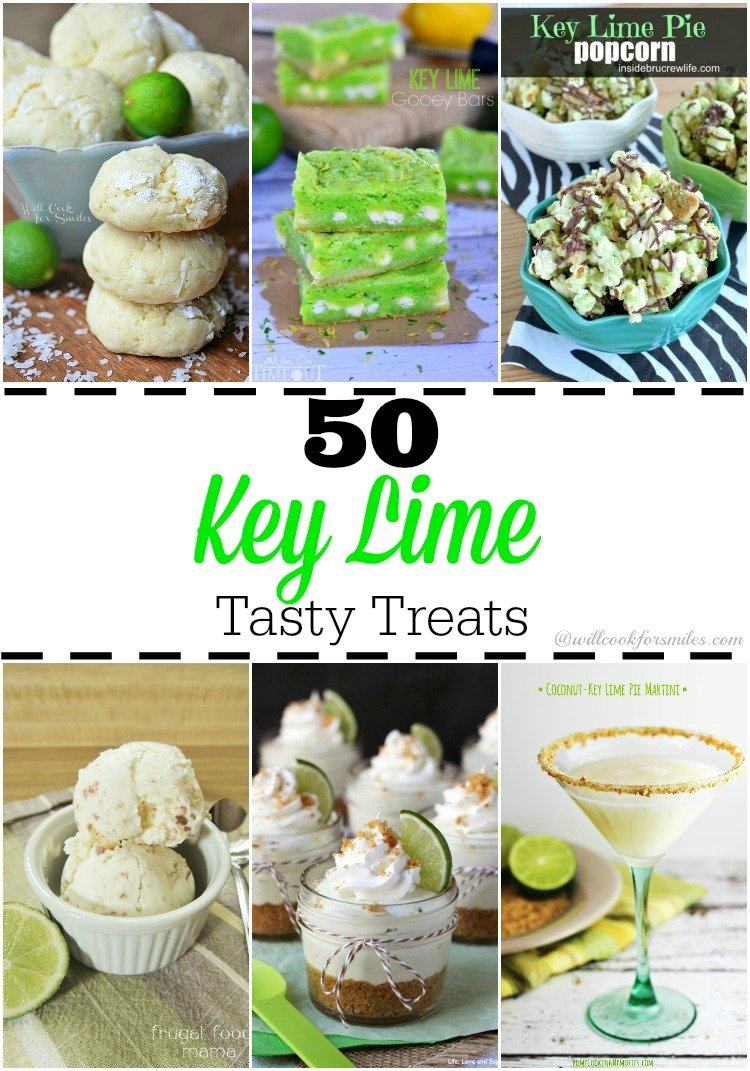 50 Key Lime Tasty Treats  at willcookforsmiles.com #keylime