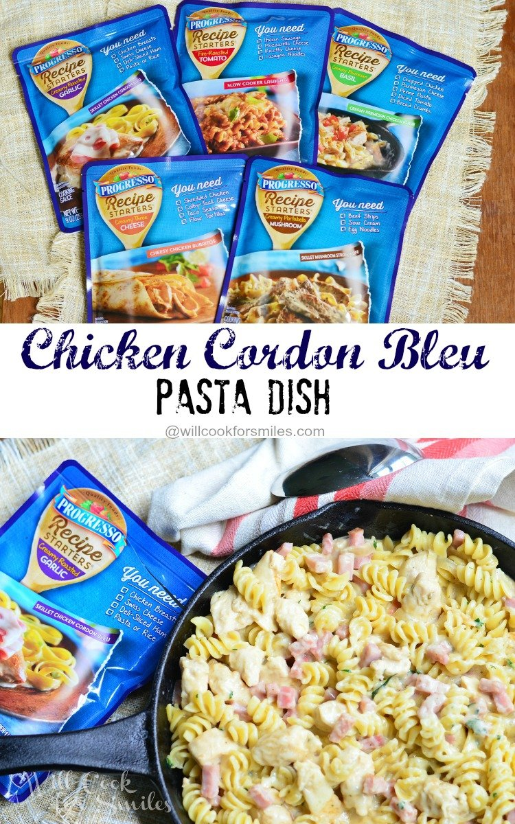 Chicken Cordon Bleu Pasta Dish