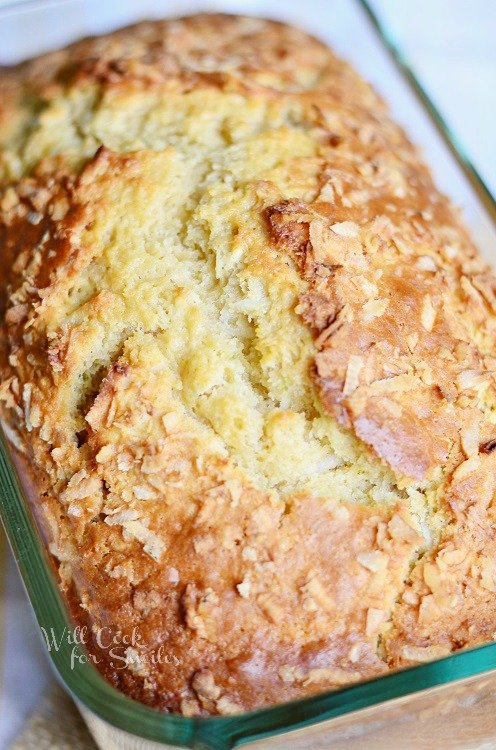 Coconut Key Lime Bread 1 from willcookforsmiles.com #bread #coconut #keylime