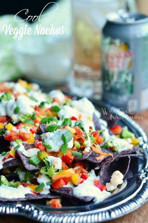 Cool Veggie Nachos   from willcookforsmiles.com #nachos #vegetarian