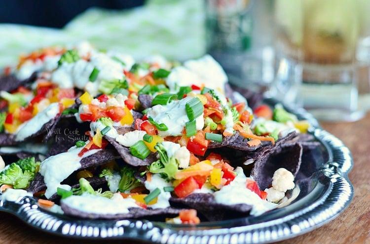 Cool Veggie Nachos 3  from willcookforsmiles.com #nachos #vegetarian