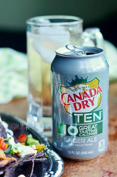 Cool Veggie Nachos & Canada Dry TEN