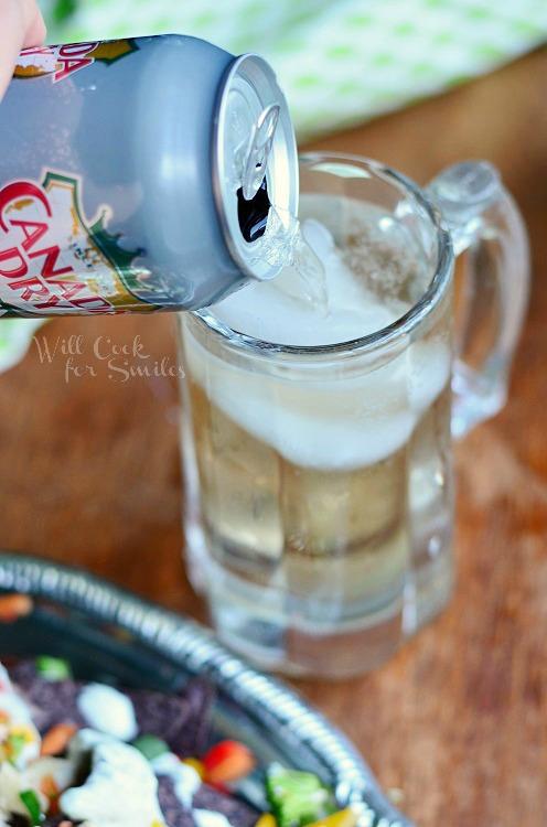 Cool Veggie Nachos & Ginger Ale TEN