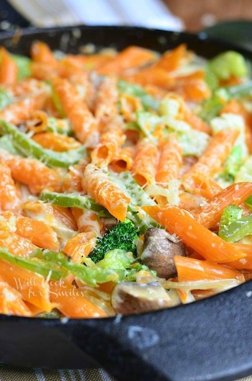 Pasta Primavera Skillet | from willcookforsmiles.com #pasta #skillet #vegetarian