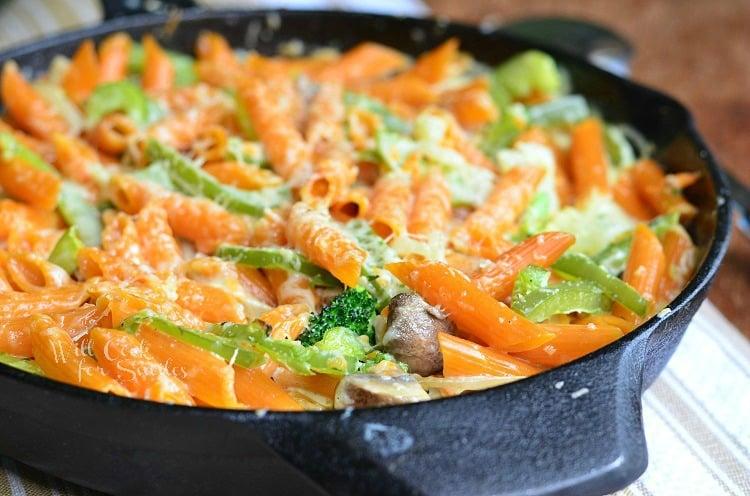 Pasta Primavera Skillet 2 from willcookforsmiles.com #pasta #skillet #vegetarian