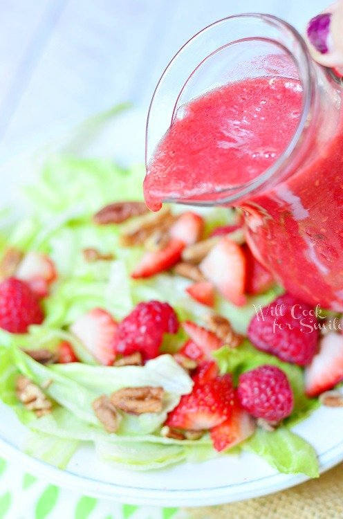 Raspberry Lime Vinaigrette 3 from willcookforsmiles.com #dressing #raspberry #Vinaigrette