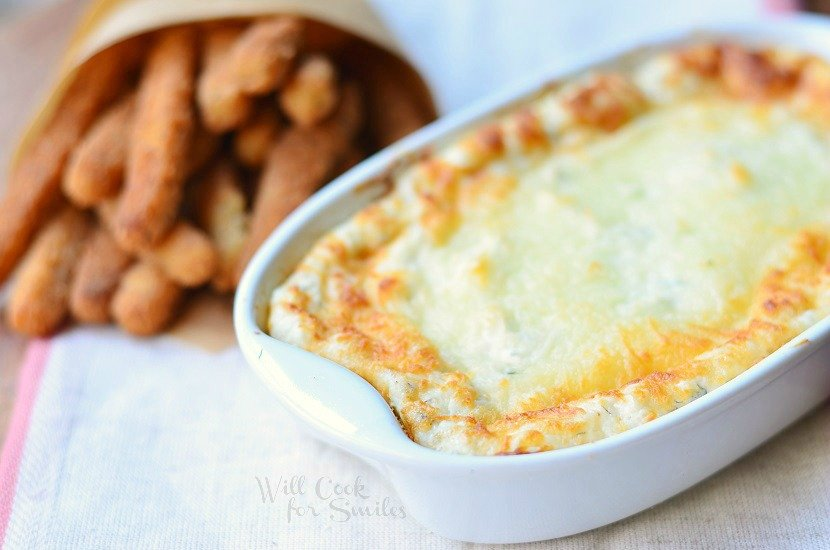 Warm Cheesy Ranch Dip 2 from willcookforsmiles.com #dip #ranch