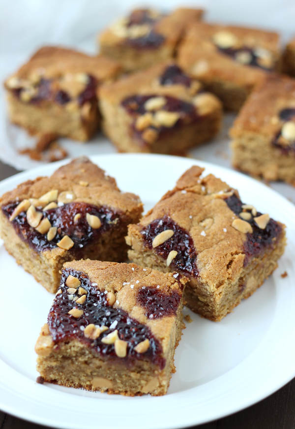 salted peanut butter and jelly blondies_2