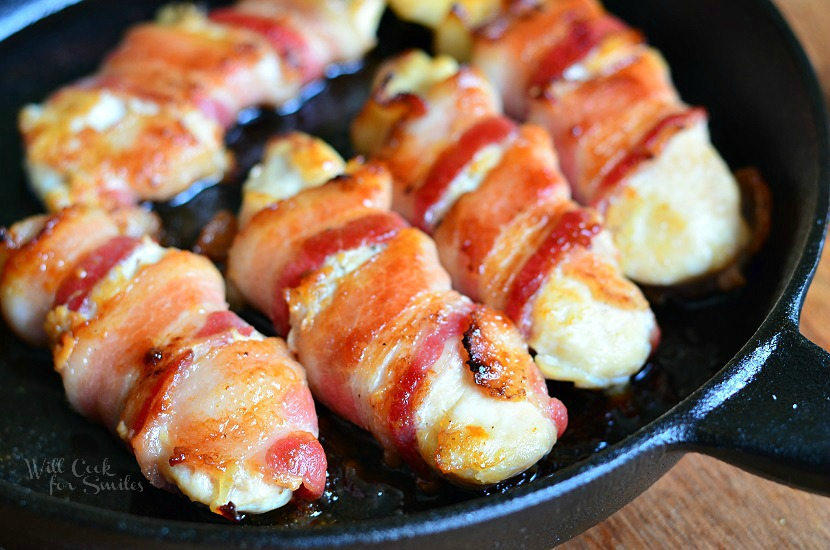 Bacon Wrapped Chicken Strips 2 from willcookforsmiles.com #chicken #bacon #easydinner
