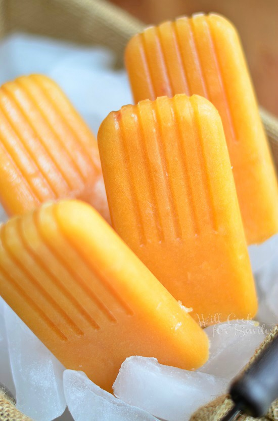 Ginger Peach Green Tea Popsicles - Will Cook For Smiles