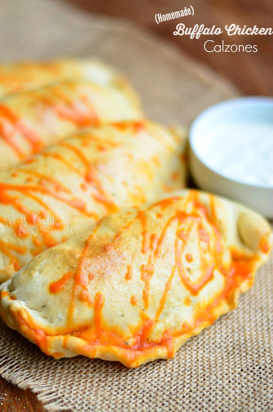 Homemade Buffalo Chicken Calzones  willcookforsmiles.com