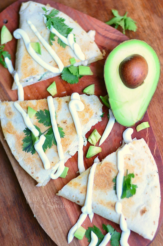 Avocado Chicken Quesadilla 1 from willcookforsmiles.com