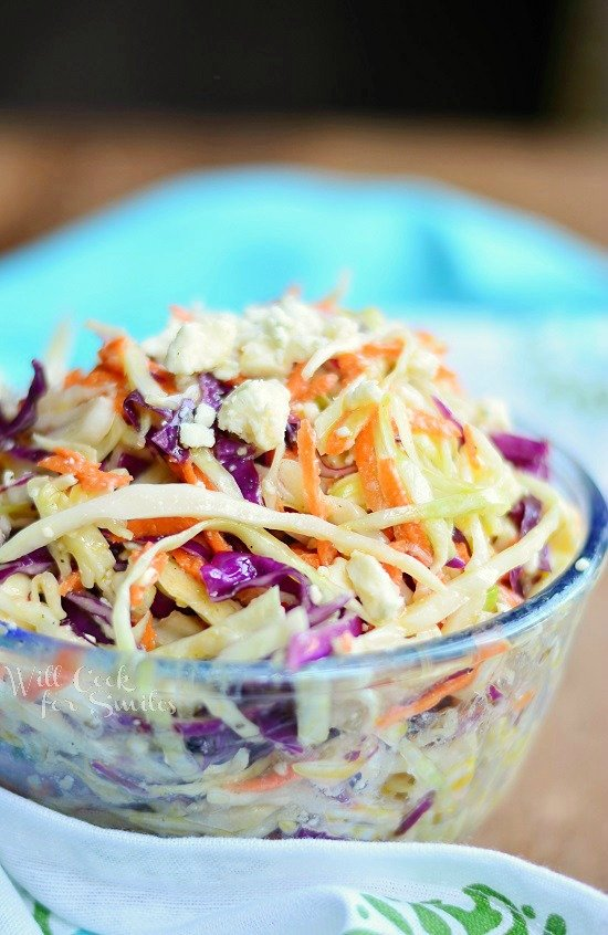 Blue Cheese Coleslaw 1 from willcookforsmiles.com