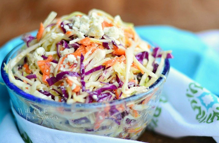 Blue Cheese Coleslaw 3 from willcookforsmiles.com
