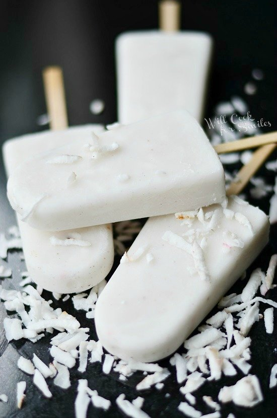 These Milk and Cereal Breakfast Popsicles are full of Greek yogurt, milk, cereal, and bananas so you'll feel great about serving them up any summer morning! I LOVE summertime! The relaxed schedule, lazy days in the back yard, taking walks downtown to grab an ice cream cone- I love it all! I get.