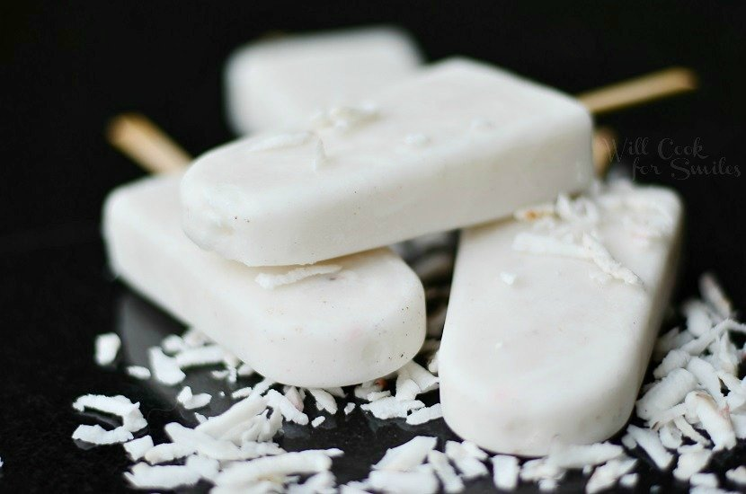 Coconut Vanilla Creamy Popsicles 2 from willcookforsmiles.com