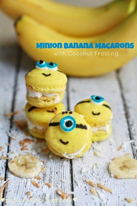 Minion Banana Macarons