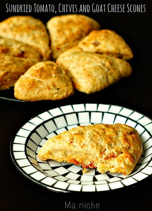 Sundried Tomato.Chives.GoatCheese.Scones