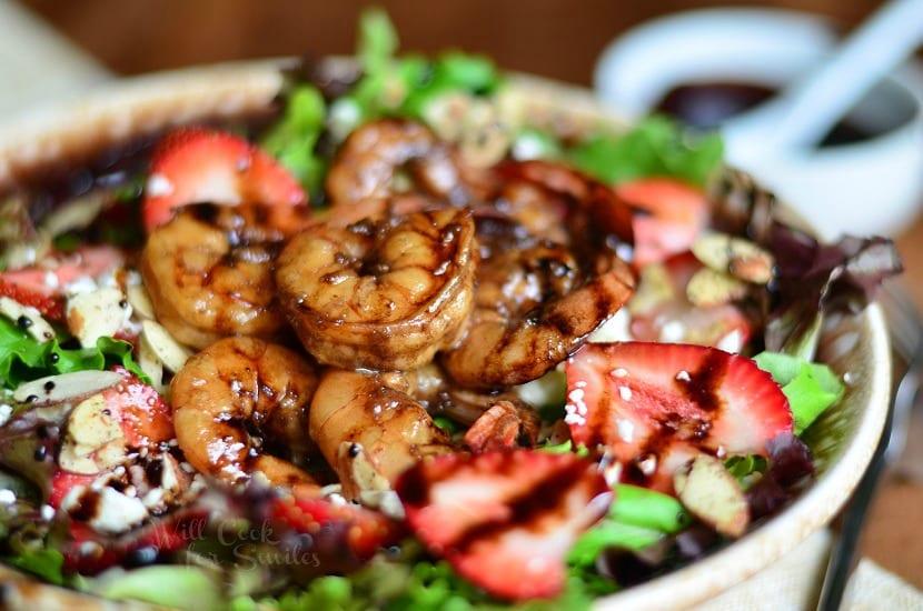 Balsamic Shrimp Salad 3 from willcookforsmiles.com