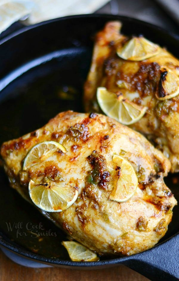 Chili Lime Roasted Chicken | from willcookforsmiles.com
