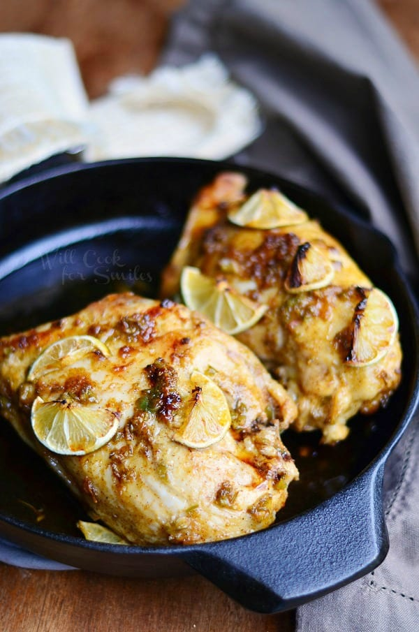 Chili Lime Roasted Chicken from willcookforsmiles.com