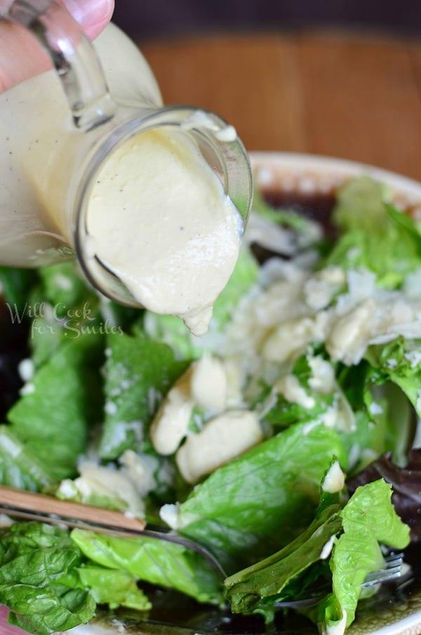 Light Caesar Dressing Recipe {No Egg} 4 from willcookforsmiles.com
