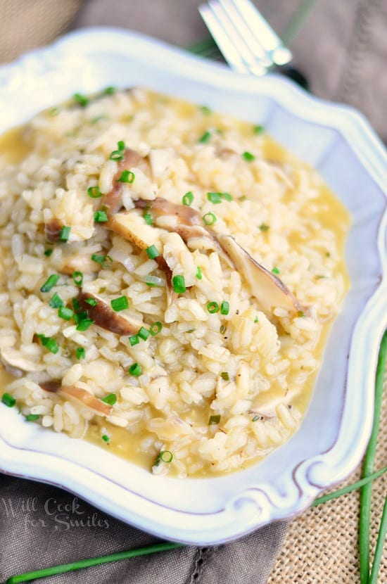 Mushroom Risotto from willcookforsmiles.com