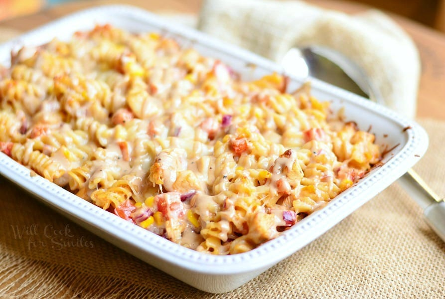 BBQ Ranch Chicken Casserole 2 from willcookforsmiles.com