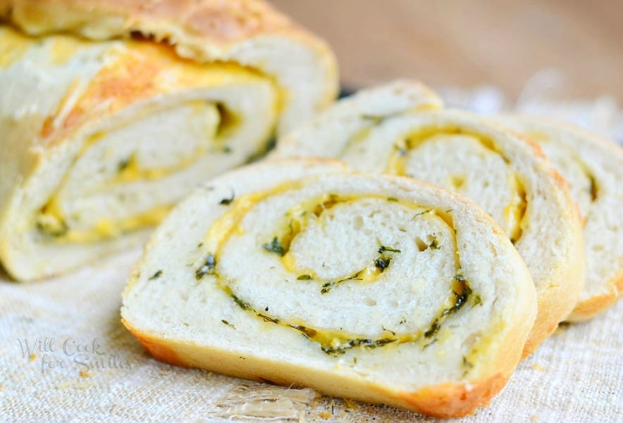 Cheddar Herb Swirl Bread 2 from willcookforsmiles.com