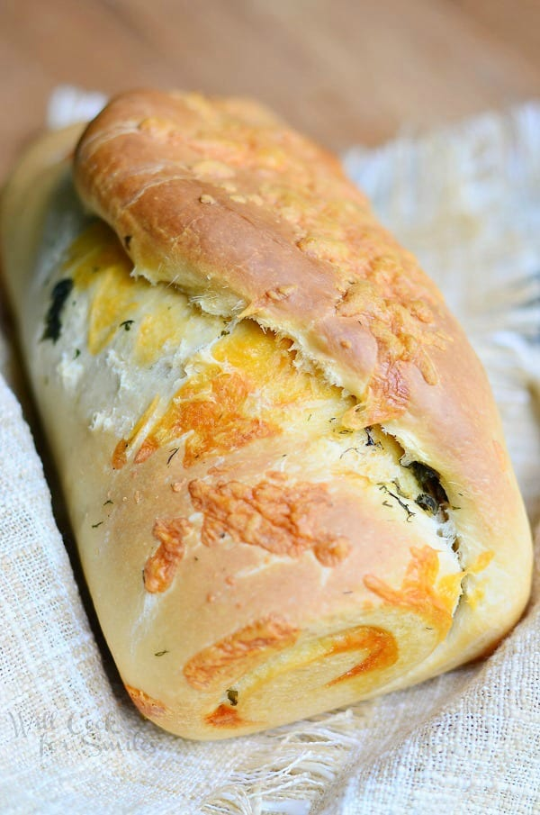 Cheddar Herb Swirl Bread 4 from willcookforsmiles.com