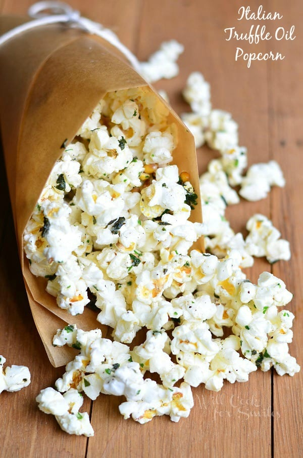 Italian Truffle Oil Popcorn 1 from willcookforsmiles.com
