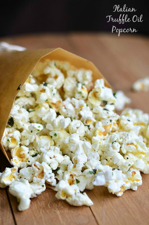 Italian Truffle Oil Popcorn 3 from willcookforsmiles.com