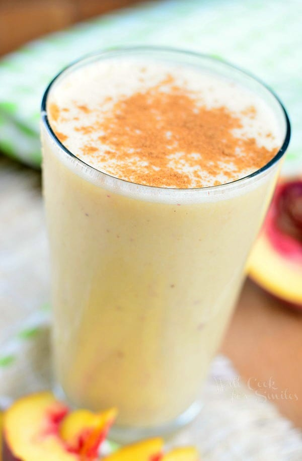 Peaches and Cream Breakfast Smoothie 1 from willcookforsmiles.com