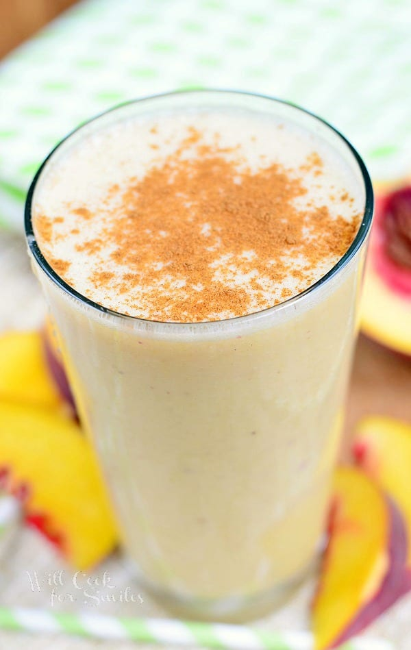 Peaches and Cream Breakfast Smoothie 3 from willcookforsmiles.com