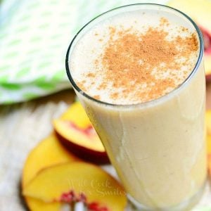 Peaches and Cream Breakfast Smoothie 4 from willcookforsmiles.com